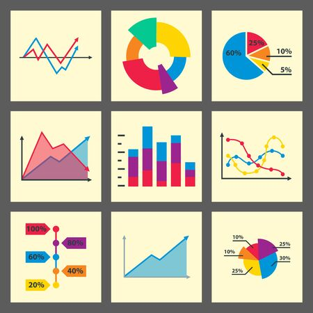 Diagram chart graph elements business infographic flow sheet data template arrows and circle progress diagrammatic report 写真素材