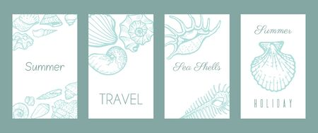 Sea vacation paradise poster concept web banner flat vector illustration. Ocean tropical summer travel time, relax weekend trip heavenly place.