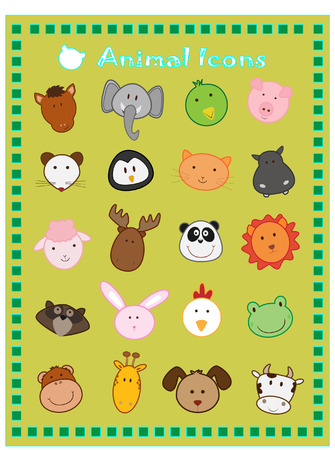 animal icons Stock Vector - 4445280
