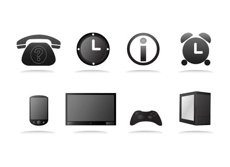televison: a collection of  website icons Illustration
