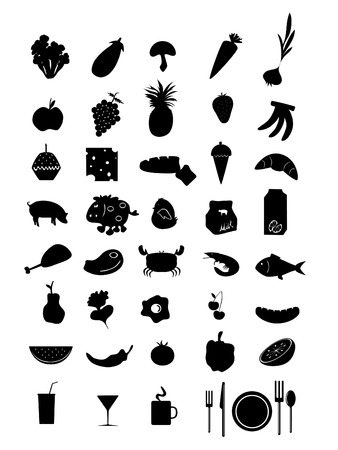 basics: a collection of good and kitchen supplies Illustration