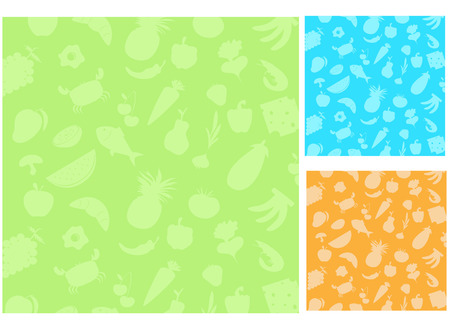 wide collection of different food Stock Vector - 4551662