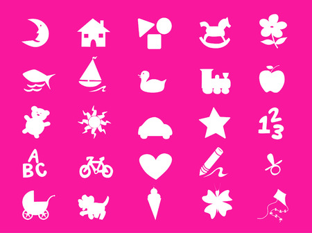 a collection of lovely kids stuff Vector