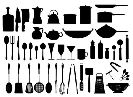 a Collection of kitchen utensils