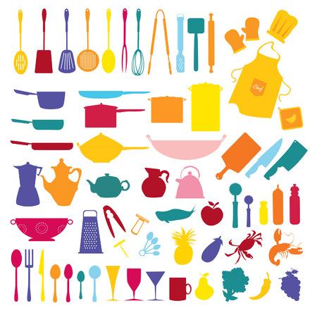 kuchnia: zbiórki żywności i kuchnia ikon
