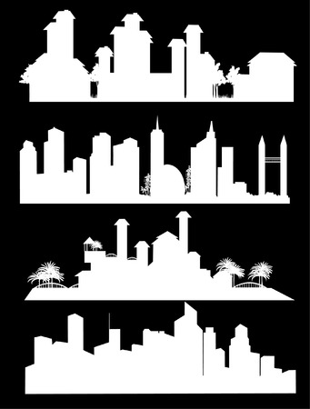 illustration of different city landscape Stock Vector - 4631865