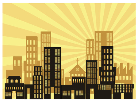 an illustration of urban view Stock Vector - 4844562