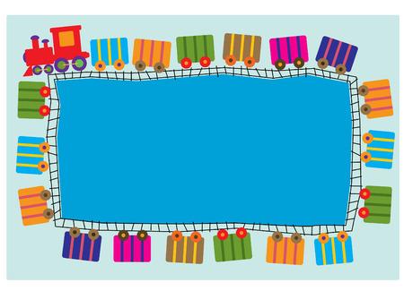 szynach: pociąg inspirowany karty zaproszenie Ilustracja