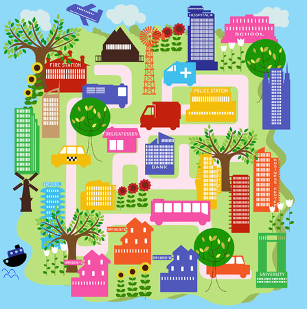 a view of a city Stock Vector - 5437851