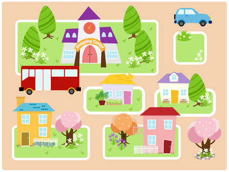 a collection of a beautiful city view - city  one Stock Vector - 5633673