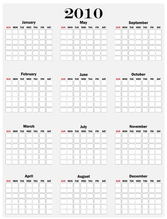 an illustration of a personal planner for 2010  Illustration