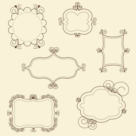 a collection of frames for pictures or invitations  Vector