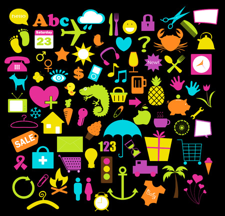 mindennapi: a collection of various icons for everyday use. Illusztráció