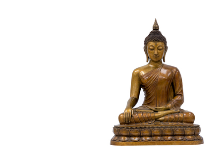 Buddha sitting isolated on white background