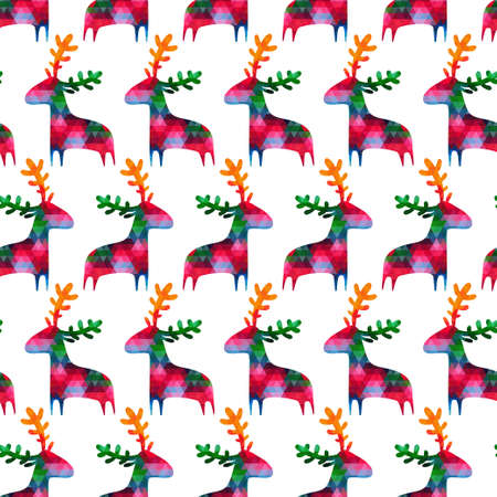 christmas seamless pattern: christmas seamless pattern with colorful deers