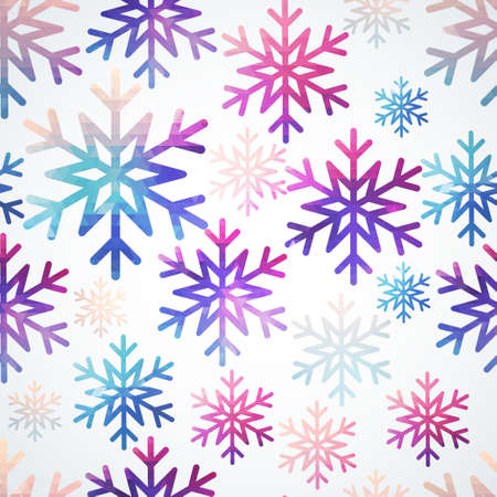 Vector snowflakes pattern  Abstract snowflake of geometric shapes  Christmas  New Year card illustration  Holiday design  Winter  Backdrop  Seamless pattern can be used for wallpaper, pattern fills