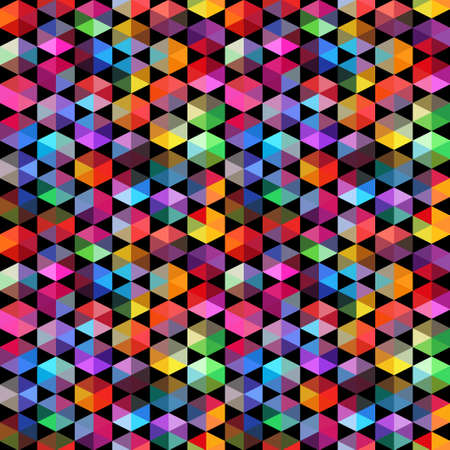 resulting: Pattern of geometric shapes. Triangles.Geometric background. Copy that square to the side, the resulting image can be repeated, or tiled, without visible seams.
