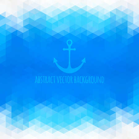 Abstract anchor, background made of polygonal shapes.   Illustration