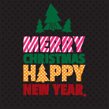 happy new year text: Greeting card. Happy new year. Merry christmas.