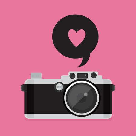 no movement: Retro Camera icon. vector illustration. Flat style.