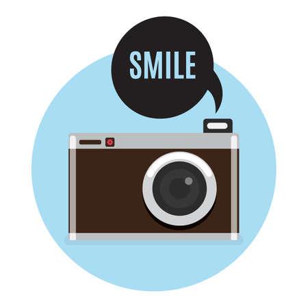 Retro Camera icon. vector illustration. Flat style.