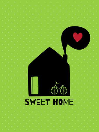 sweet home: Tarjeta de felicitaci�n. Dulce hogar.