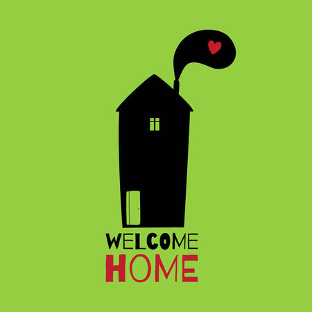 welcome home: Greeting card. Welcome home.