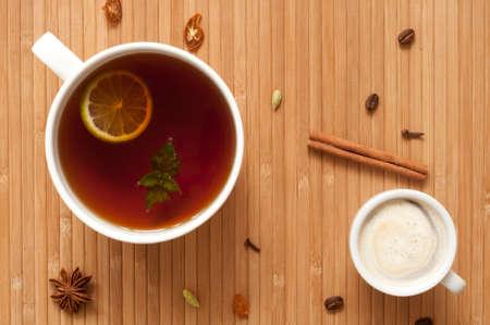 spiced: Spiced tea and coffee