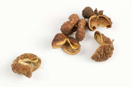 sichuan: Sichuan pepper close up isolated on white