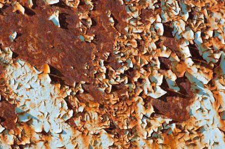 Verrostete Metalloberfläche mit flockige Farbe Lizenzfreie Bilder