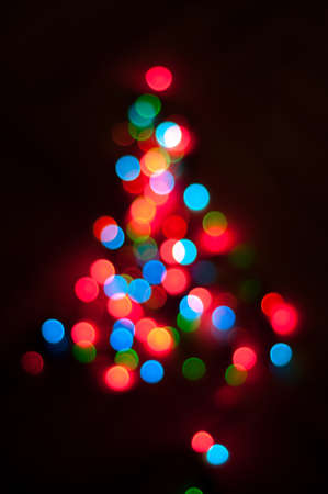 christmas tree made of blurred colored lights stock photo 66539797