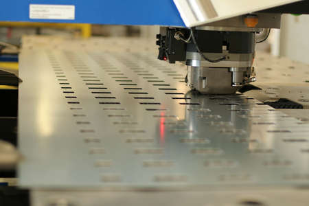 High precision CNC sheet metal stamping and punching machinery. Stock Photo - 1290900