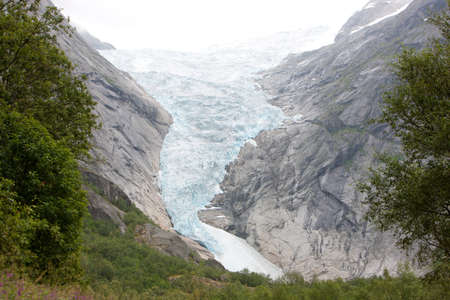 Idyllic picture of glacier Jostedalsbreen, Norway, Europe photo