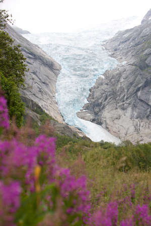 jostedal: Idyllic picture of glacier Jostedalsbreen, Norway, Europe