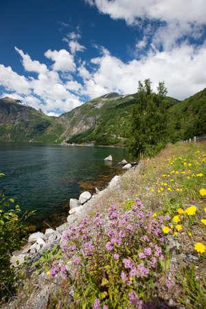 scandinavian peninsula: Beautiful landscape of Geiranger fjord (UNESCO heritage), Norway, Scandinavia