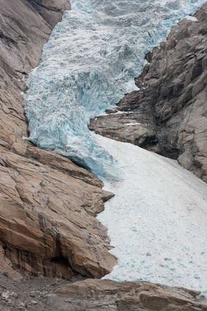 jostedal: Extreme close-up of Jostedal glacier in  Norway, Scandinavia, Europe Stock Photo