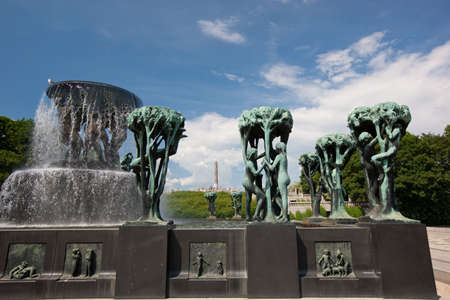 Vigeland sculpture park - one of most popular places in Oslo, Norway photo
