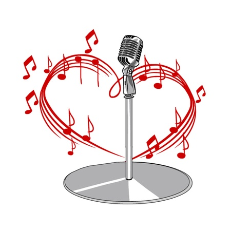 music and microphone