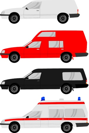 hearse:  Different cars