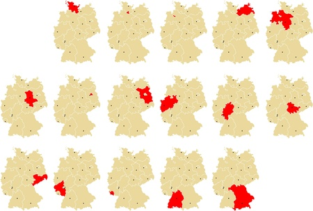 westfalen: Germanys federal states Illustration