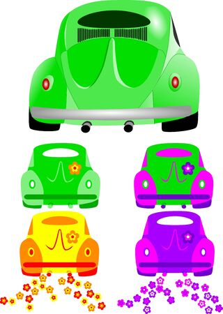 locomotion: Car from behind Illustration