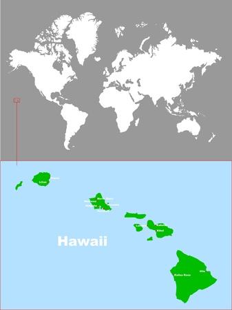 Hawaii In Der Karte Der Welt Lizenzfrei Nutzbare Vektorgrafiken