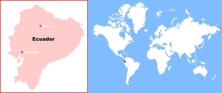 ecuador: ecuador in map of world