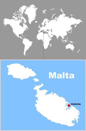 malta: malta in de kaart van de wereld