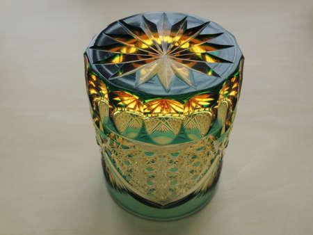 Edokiriko (traditional cut glass in Tokyo,Japan) Upside-down Stock Photo