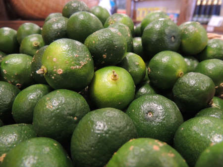 Citrus depressa (flat lemon grown in Okinawa,Japan)