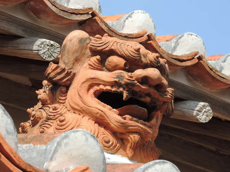 Shisa@atraditional Ryukyuan cultural artifact in Okinawa,Japan Imagens