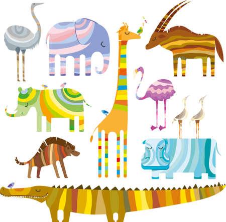 African Animals Ilustração
