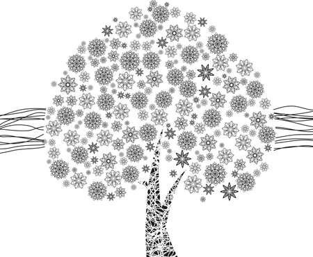 feuille arbre: Noir, Arbre, Feuille