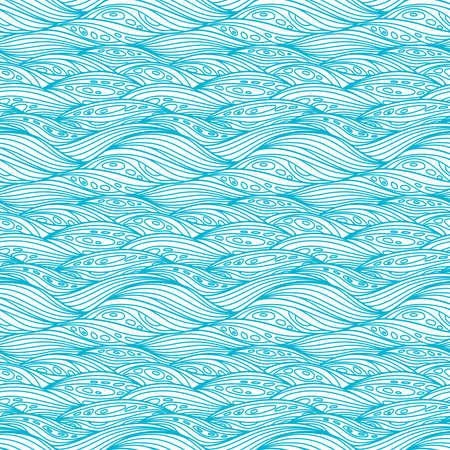 meiosis: Blue Svirling Textile Pattern